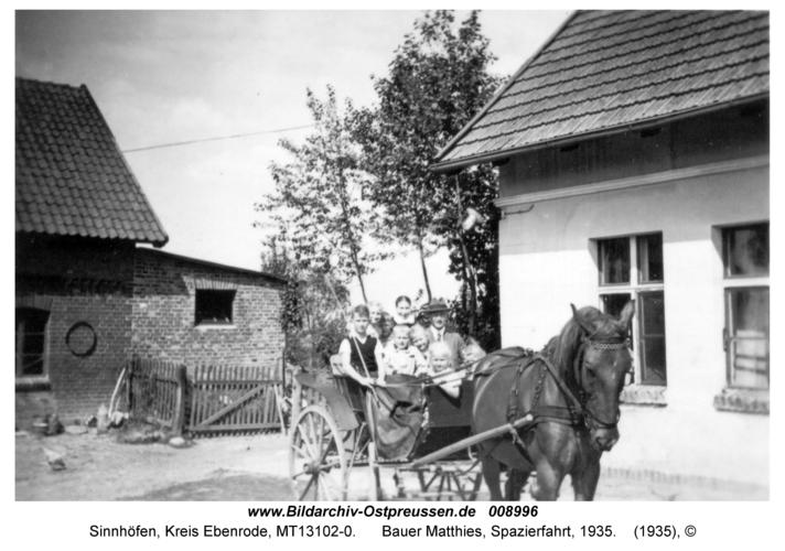 Sinnhöfen, Bauer Matthies, Spazierfahrt, 1935