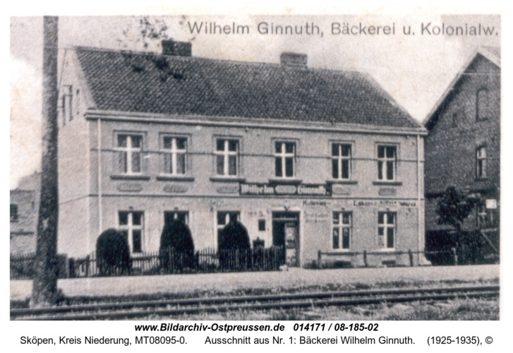Sköpen , Ausschnitt aus Nr. 1: Bäckerei Wilhelm Ginnuth