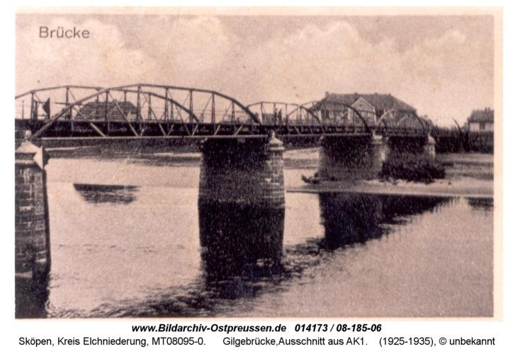 Sköpen 08-185-06, Gilgebrücke, Ausschnitt aus AK1