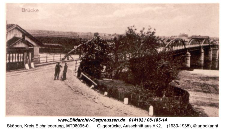 Sköpen 08-185-14, Gilgebrücke, Ausschnitt aus AK2