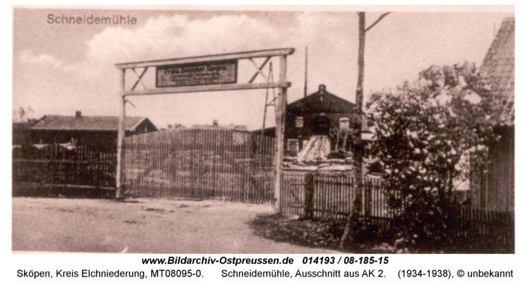 Sköpen 08-185-15, Schneidemühle, Ausschnitt aus AK 2