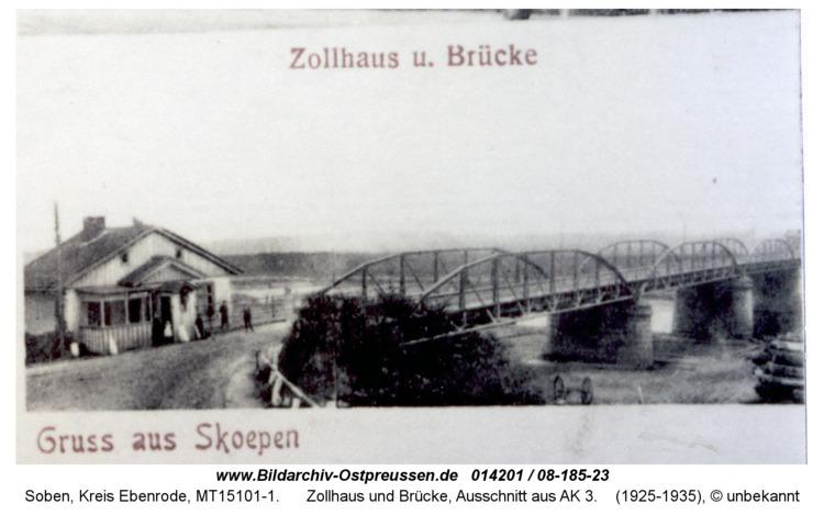 Sköpen 08-185-23, Zollhaus und Brücke, Ausschnitt aus AK 3