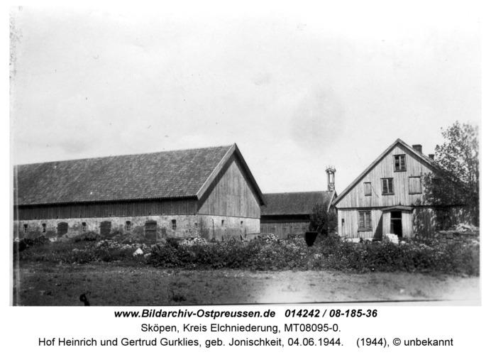 Sköpen 08-185-36, Hof Heinrich und Gertrud Gurklies, geb. Jonischkeit, 04.06.1944