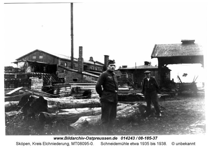 Sköpen 08-185-37, Schneidemühle etwa 1935 bis 1938