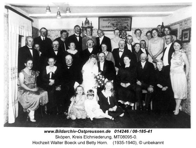 Sköpen 08-185-41, Hochzeit Walter Boeck und Betty Horn