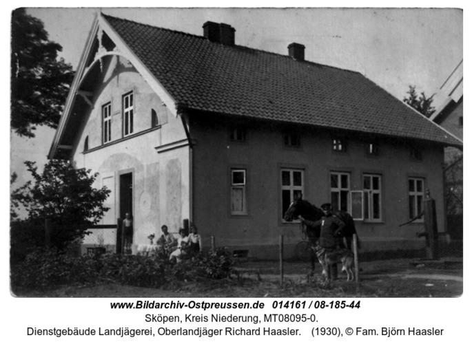 Sköpen 1930, Dienstgebäude Landjägerei, Oberlandjäger Richard Haasler