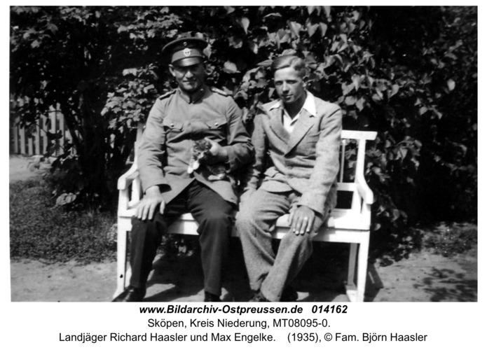 Sköpen 1935, Landjäger Richard Haasler und Max Engelke