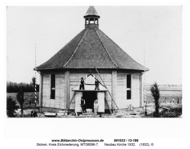 Skören, Neubau Kirche 1932