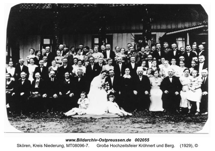 Skören, Große Hochzeitsfeier Kröhnert und Berg