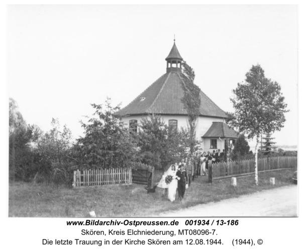 Skören, Die letzte Trauung in der Kirche Skören am 12.08.1944