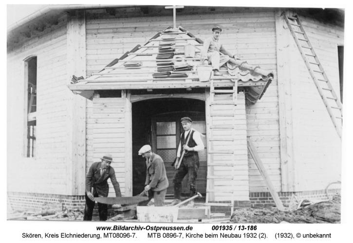 Skören, MTB 0896-7, Kirche beim Neubau 1932 (2)