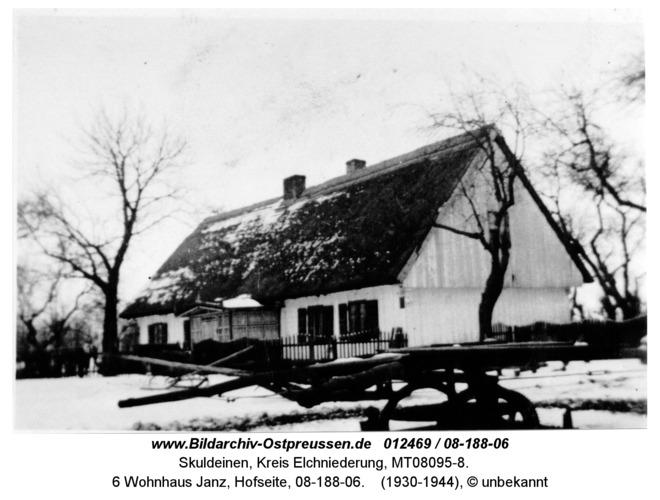 Skuldeinen, 6 Wohnhaus Janz, Hofseite, 08-188-06
