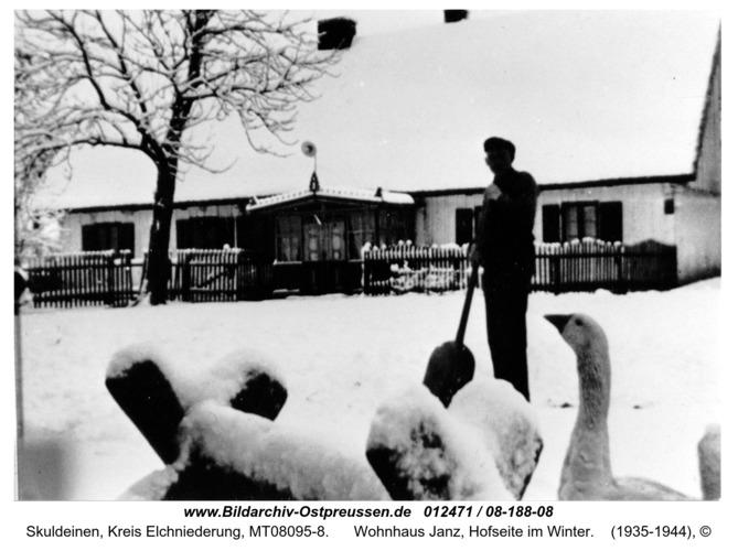 Skuldeinen, Wohnhaus Janz, Hofseite im Winter