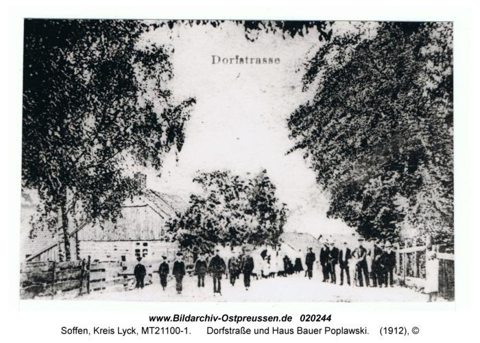 Soffen, Dorfstraße und Haus Bauer Poplawski