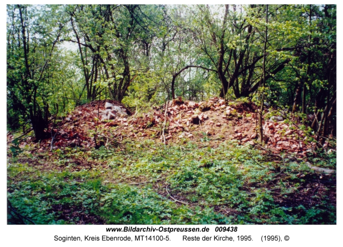 Soginten, Reste der Kirche, 1995
