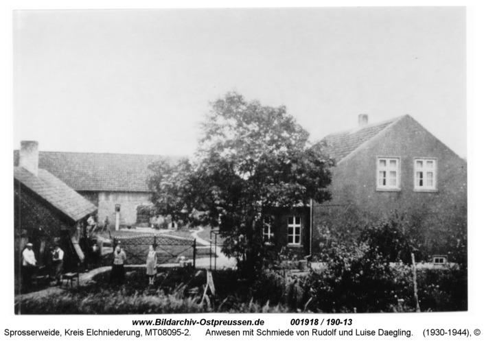 Sprosserweide, Anwesen mit Schmiede von Rudolf und Luise Daegling