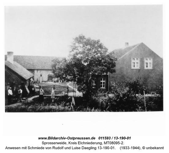 Sprosserweide, Anwesen mit Schmiede von Rudolf und Luise Daegling 13-190-01
