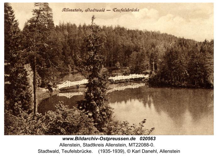 Allenstein, Stadtwald, Teufelsbrücke