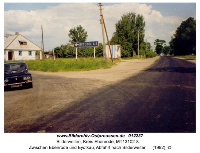Reichsstraße 1, Zwischen Ebenrode und Eydtkau, Abfahrt nach Bilderweiten
