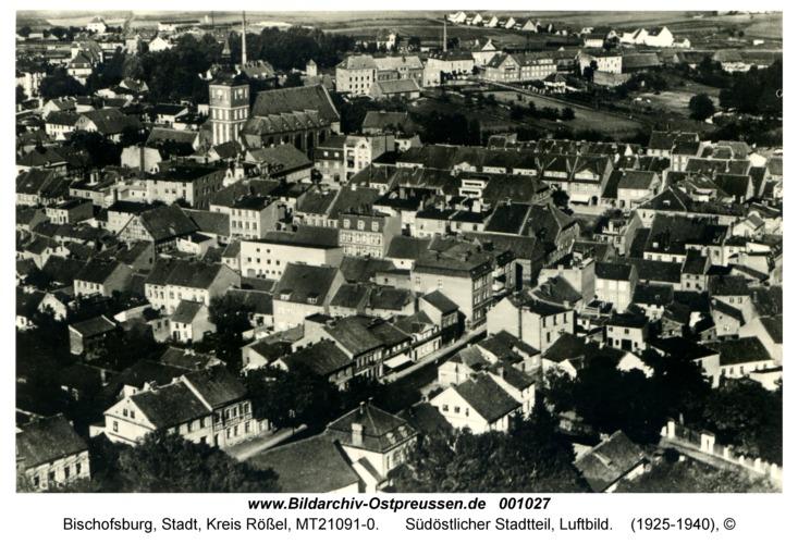Bischofsburg, Südöstlicher Stadtteil, Luftbild