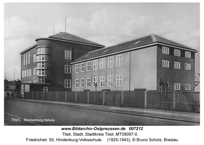 Tilsit, Friedrichstr. 55, Hindenburg-Volksschule