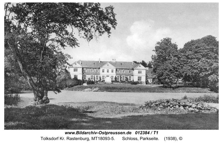 Tolksdorf, Schloss, Parkseite