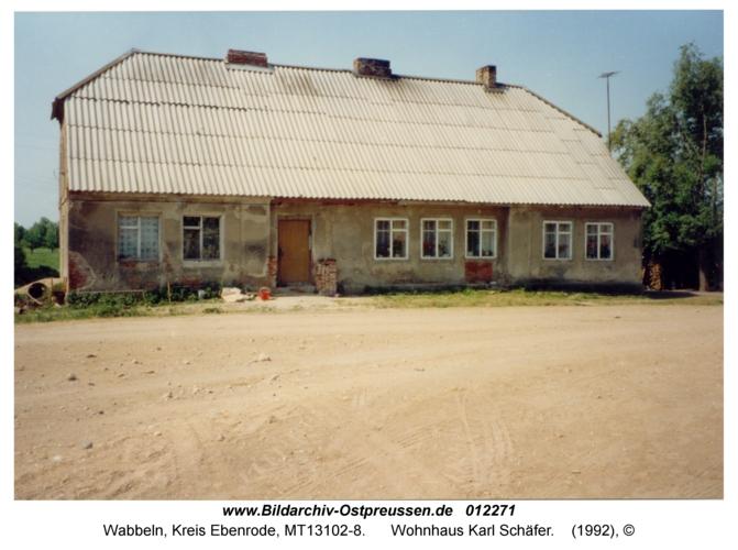 Wabbeln, Wohnhaus Karl Schäfer