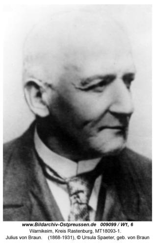 Warnikeim, Julius Freiherr von Braun
