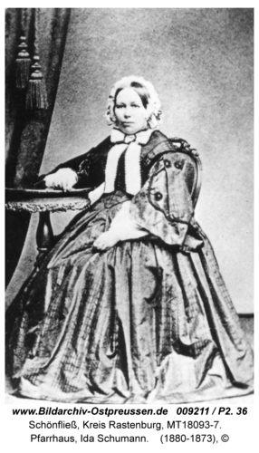 Schönfließ, Pfarrhaus, Ida Schumann