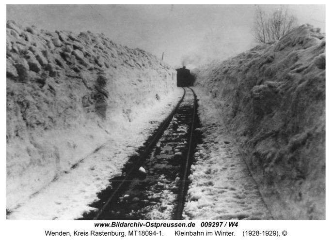 Wenden, Kleinbahn im Winter