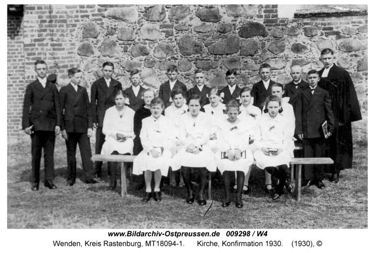 Wenden, Kirche, Konfirmation 1930