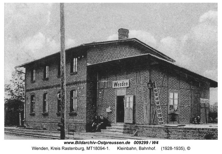 Wenden, Kleinbahn, Bahnhof