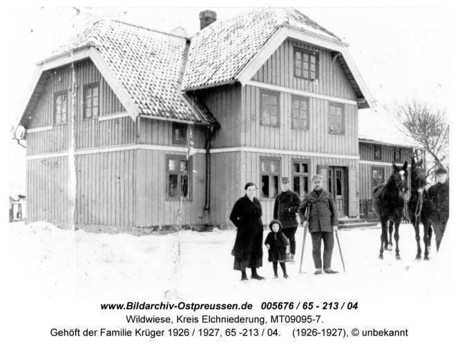Wildwiese / Oschke, Gehöft der Familie Krüger 1926 / 1927, 65 -213 / 04