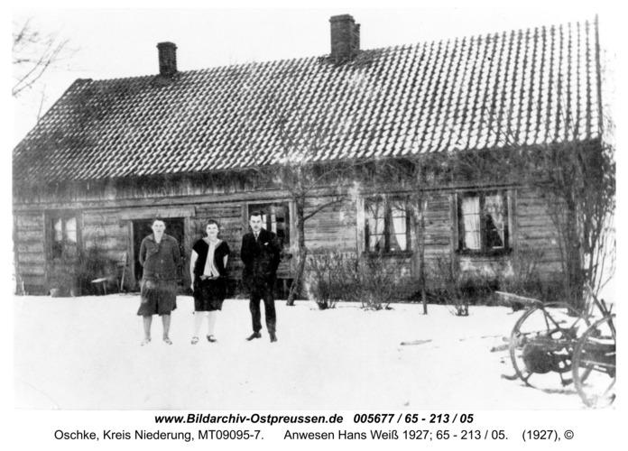 Wildwiese / Oschke, Anwesen Hans Weiß 1927; 65 - 213 / 05