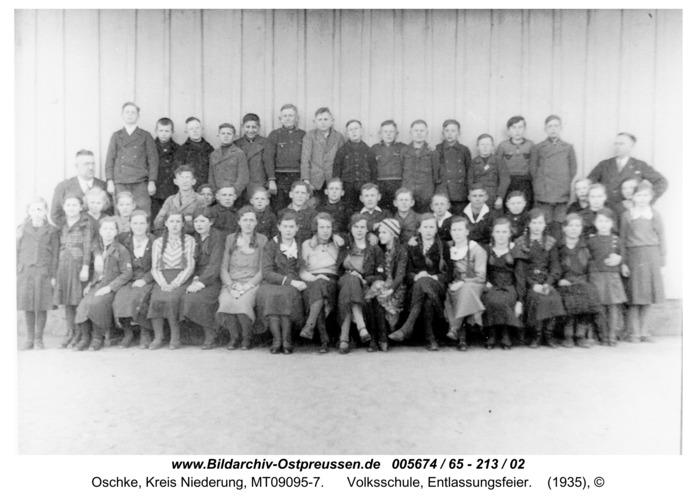 Wildwiese / Oschke, Volksschule, Entlassungsfeier