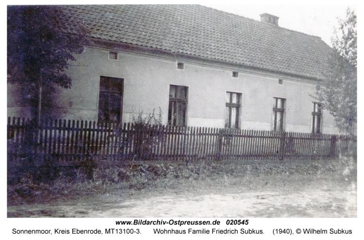 Sonnenmoor, Wohnhaus Familie Friedrich Subkus