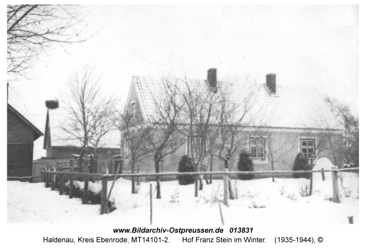 Haldenau, Hof Franz Stein im Winter
