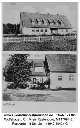 Wolfshagen, Postkarte mit Schule