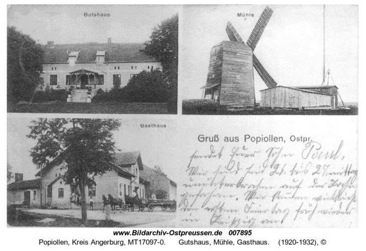 Popiollen, Gutshaus, Mühle, Gasthaus