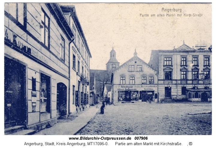 Angerburg 12, Partie am alten Markt mit Kirchstraße