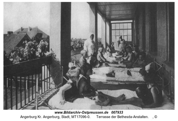 Angerburg, Terrasse der Bethesda-Anstalten