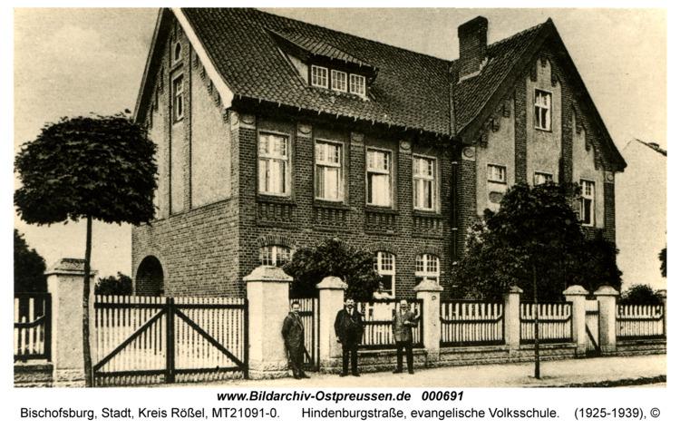 Bischofsburg, Hindenburgstraße, evangelische Volksschule