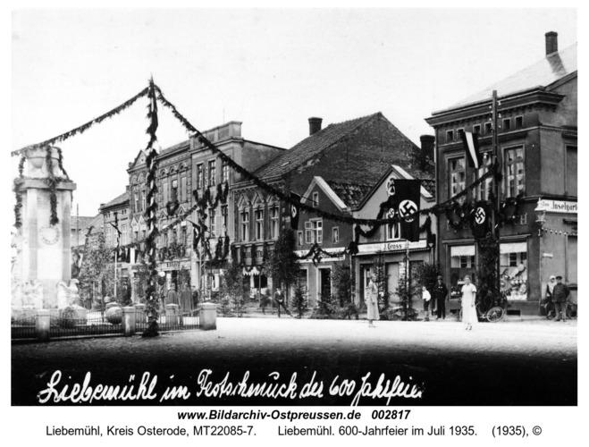 Liebemühl. 600-Jahrfeier im Juli 1935