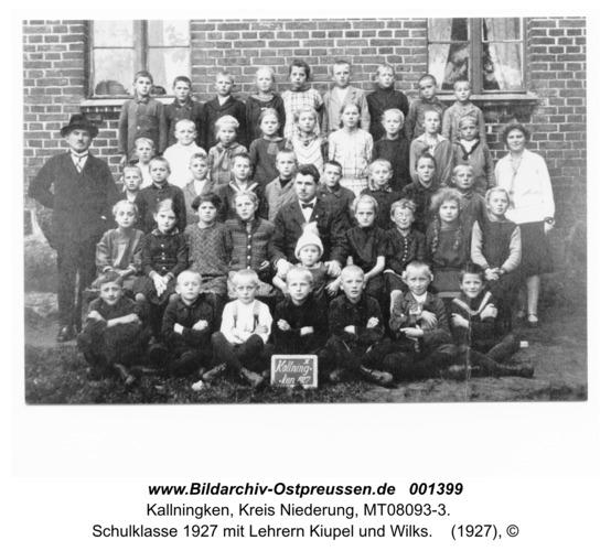 Herdenau, Schulklasse 1927 mit Lehrern Kiupel und Wilks
