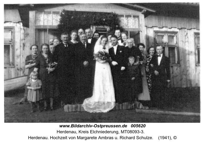 Herdenau. Hochzeit von Margarete Ambras u. Richard Schulze