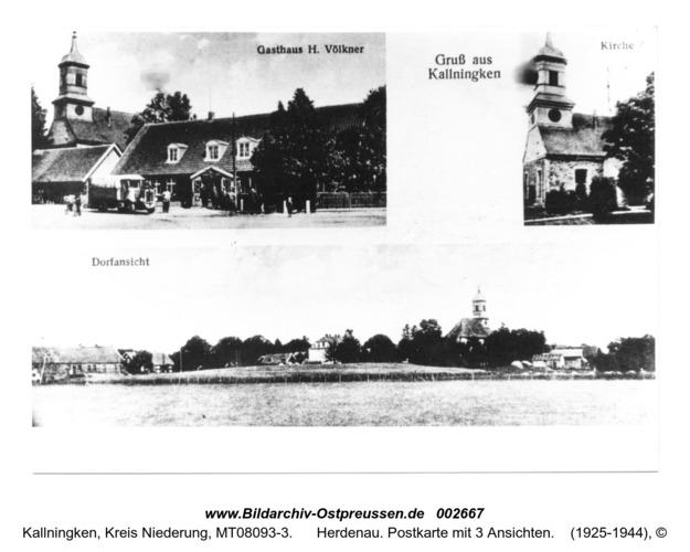 Herdenau. Postkarte mit 3 Ansichten