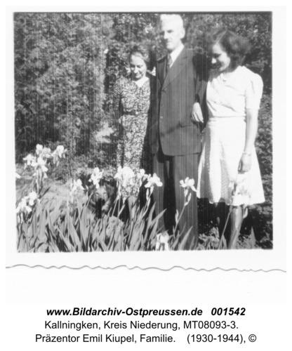 Herdenau, Präzentor Emil Kiupel, Familie