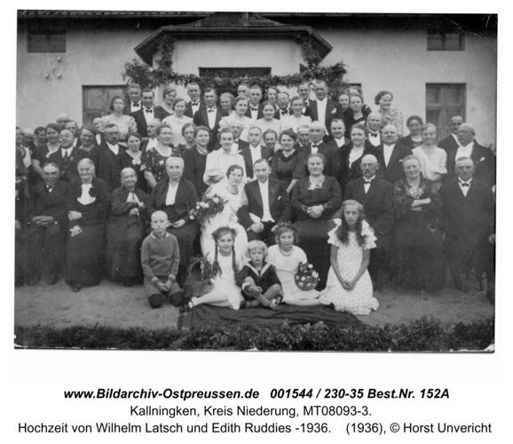 Herdenau, Hochzeit von Wilhelm Latsch und Edith Ruddies -1936