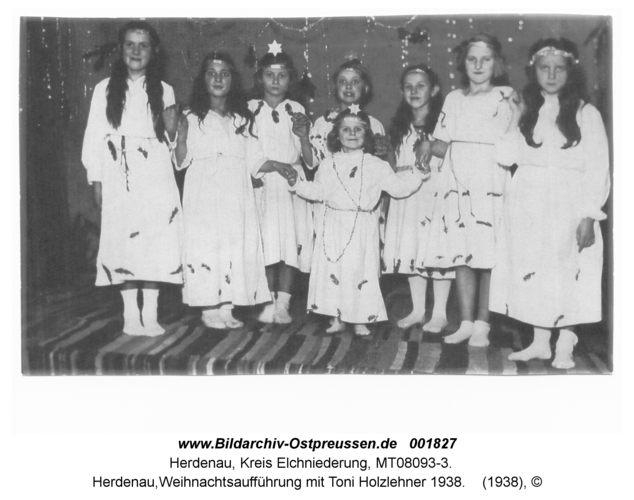 Herdenau, Weihnachtsaufführung mit Toni Holzlehner 1938