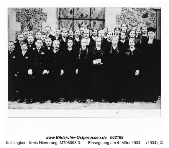 Herdenau, Einsegnung am 4. März 1934